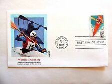 """May 4th, 1984 """"Women's Kayaking"""" Olympics First Day Cover"""