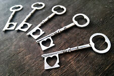 50pcs antiqued silver skeleton heart keys wedding vintage style wholesale bulk