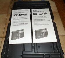 Radio zubehoer fuer ICF SW1 der koffer und zwei Anleitungen