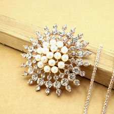 Gold-plated Crystal Sun flower sweater chain Fashion charm necklace HH437