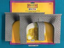 40-9015 MTH RealTrax Railking Double Train Tunnel Portal (2 Portals) NIB