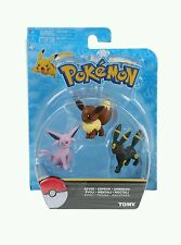Official Tomy Pokemon Eevee Evolutions - 3 Pack Figure Set -Eevee Espeon Umbreon
