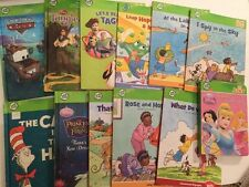 Leap Frog Tag Book Lot Of 12 Cat In The Hat Cars Tangled Princess Frog