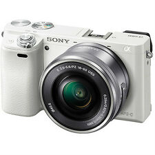 Brand New Sony Alpha a6000 Mirrorless Digital Camera with 16-50mm Lens (White)