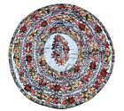"Guatemalan huipil 18"" round pillow case with floral embroidery NEW never used"