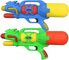 """2 x LARGE 18"""" 46cm Super Pump Water Cannons Guns Fight Soaker Toy 086"""