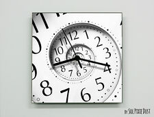 Square Time Travel Hole Wall Clock