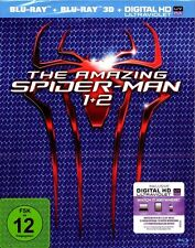 THE AMAZING SPIDER MAN 1 + 2 (Rise of Electro) Blu-ray 3D + Blu-ray Disc NEU+OVP