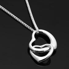 Necklace Chain 925 Sterling Silver Heart Pendant New Fashion Jewelry Charm Gift