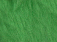 Green Lime Plain Faux Fur Fabric Short Hair 150cm Wide  SOLD BY THE METRE