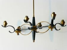 SUPERBE PLAFONNIER 6 FEUX TYPIQUE 1950 VINTAGE ROCKABILLY FRENCH HANGING FIXTURE