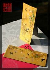 Set of 2 Beautiful Chinese Ancient Painting Magnetic Bookmark Butterfly Yellow