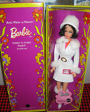 VINTAGE BARBIE1969 REPRODUCTION of #1491~RED,WHITE`N WARM~T`NT~BENDABLE LEGS~NEW