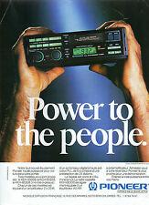 Publicité 1990  PIONEER auto-radio