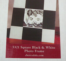 Glass Photo Frame - Checkered Black & White Squares