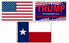 3x5 Donald Trump & USA American & State of Texas Wholesale Set Flag 3'x5'
