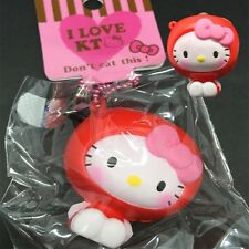 1 pc HELLO KITTY APPLE SUIT SCENTED squishy Charm Cellphone Straps with TAG