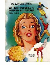 Colorful Program - Oct. 15th 1949 - USC vs Cal Funny Advertisements