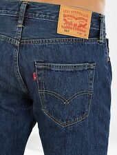 New Levi's Mens Original 501 0194 Button Fly Straight Leg Denim Jeans 44 X 34