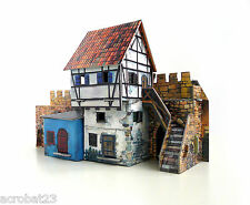 Building HOUSE AT THE WALL War Games Terrain Landscape Middle Ages 25-28 mm