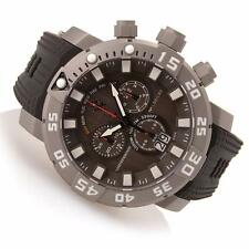 INVICTA MENS 53MM SEA BASE CHRONOGRAPH LIMITED GUNMETAL RUBBER BAND WATCH 14248