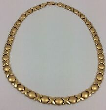 14K YELLOW GOLD XOXO KISSES NECKLACE 16.75""