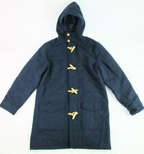 OLD NAVY MEN NAVY BLUE WINTER TOGGLE HOODIE PEACOAT JACKET L/S DUFFEL COAT L NWT
