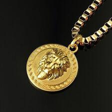 HIP HOP Gold Plattiert Erhaltung Collectibles üBertrieben LöWen Kopf Halskette