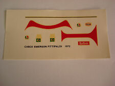 DECALS KIT 1/12 EMERSON FITTIPALDI F1 COPERSUCAR HELMET DECAL F1