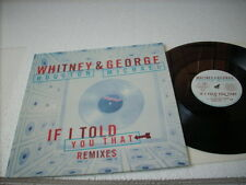 "a941981 Whitney Houston George Michael Wham 12"" LP Single If I Told You That"