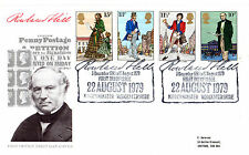 22 AUGUST 1979 SIR ROWLAND HILL POST OFFICE FIRST DAY COVER KIDDERMINSTER SHS (D
