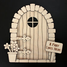 Wooden Fairy Elf Door Shape Blank Craft Kit Plus Accessories V2