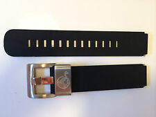 VOSTOK AMPHIBIAN WATCH STRAP BAND 18MM SILICONE RUBBER BLACK STEEL LOOP KEEPER