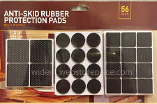 56Pcs Anti-Skid Rubber Furniture Protection Pads Self Adhesive
