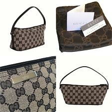 NEW GUCCI BAG IN BEIGE & BLACK ~ GUCCI GG CANVAS WITH CARDS & DUST COVER