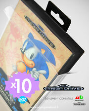 10 BOITIER PROTECTION PROTECTIVE CASE SEGA MEGADRIVE MASTER SYSTEM 0,4 mm NEUF