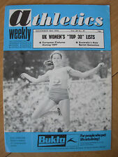 ATHLETICS WEEKLY DECEMBER 18th 1976 SUE LONGDEN UK ALL ROUNDER