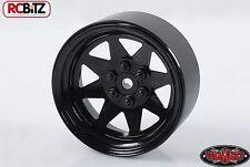 """6 Lug Carro Ruedas 2.2 """"de acero estampada beadlock Negro Pin De Montaje De Metal Wraith"""