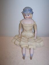 """Antique Reproduction Parian Doll Glass Eyes Signed Smith 17""""  Stunning Doll"""