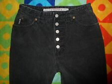 vtg 80's BONGO jrs 13 (29x33) High Waist Button Fly Black JEANS Gene Montesano