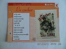 CARTE FICHE PLAISIR DE CHANTER KAM HILL LE COCHER