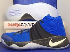 "MENS NIKE ID KYRIE 2 ""DUKE"" BLUE BLACK GLOW IN THE DARK SHOES 843253 995 SIZE 12"