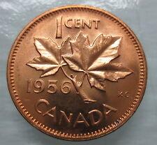 1956 CANADA 1¢ BRILLIANT UNCIRCULATED PENNY - A