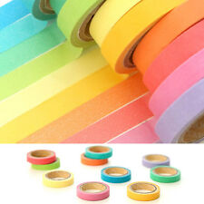 10X Decorative Washi Rainbow Sticky Tape Masking Adhesive Paper Scrapbook DIY