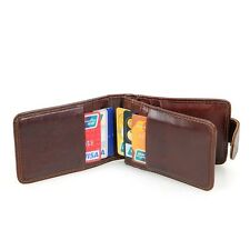 RFID Blocking Leather Credit / ID Card Holder Slim Purse Bifold Wallet for Men