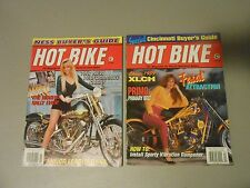 LOT OF 2 1993/1994 HOT BIKE MAGAZINES,HARLEYS,HONDAS,CARBS,DYNA,STURGIS,1959XLCH
