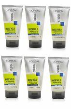 6 X L'oreal Paris STUDIO Line New INVISI' HOLD Natural Clear Gel NORMAL 150ml