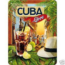 Cartel Metal Cuba Libre Letrero Decoración Bar Pub Disco Casa Retro Vintage