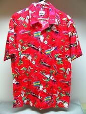 Lims Custom Hawaiian Mens Short Sleeve Luau Maui Waikiki Hotels Shirt No Size