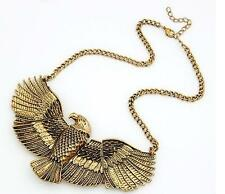 Vintage Eagle Egipto Antiguo Estilo Art Deco Oro Bronce Color Metal collar